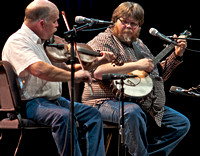 Kirk Sutphin, fiddle and Riley Baagus on Banjo.