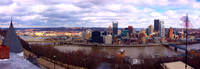 Pittsburgh from Mount Washington on a Windy Day